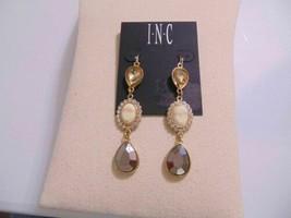 Inc International Concepts Gold-Tone Crystal Stone Triple Drop Earrings ... - $12.47
