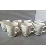 Corelle Corning Veranda Coffee Cups Mugs Set of 7 White Floral Home Kitchen - $32.01