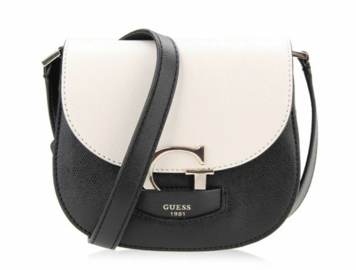 Guess NWT Stone Black Shoulder Hand Bag Lexxi Magnetic Flap Pebbled Gold