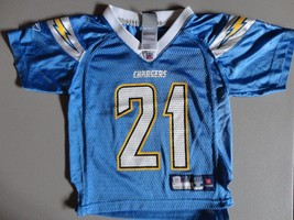 Blue San Diego Chargers #21 LaDainian Tomlinson NFL Screen Jersey Youth S (4) - $18.65