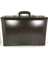 AIRWAY Vintage Dark Brown Leather Pilot Locking Briefcase- Distressed - $73.71