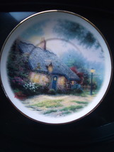 Thomas Kinkade Saucer Moonlight Cottage Teleflora Gift - $5.00