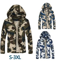Men's Fashion Casual Camouflage Thin Jacket Male Slim Fit Spring Autumn ... - $44.88