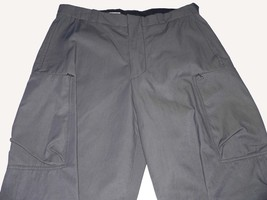 EMPORIO ARMANI US-32  IT-50 cargo pants gray cotton/nylon feel waxed men... - $155.19