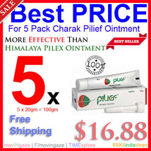5x Charak Pilief Ointment 20gm More Potent Than Himalaya Pilex Ointment - $16.88