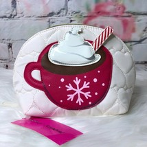 New Betsey Johnson Hot Cocoa Quilted Cosmetics Case - $25.89