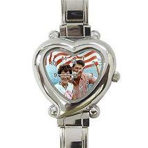 Ronald Reagan Nancy Reagan Republican President Heart Italian Charm Watch - $9.39