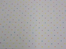 Spots and Dots White Orange Pink Cotton High Quality Fabric Material 3 S... - $2.48+