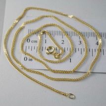 SOLID 18K YELLOW GOLD CHAIN NECKLACE 1.1 MM EAR LINK, 19.69 INCHES MADE IN ITALY image 1