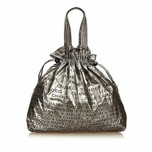 Pre-loved Chanel Silver Chemical Fiber Fabric Unlimited Tote Bag Italy - $741.09