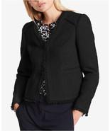 DKNY New Womens Fringe-Trim Textured Blazer Jacket Black $139 Size 4, 12... - $29.99