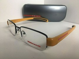 New PRADA VPS 55A  7AX-1O1 Yellow Black 51mm Semi-Rimless Eyeglasses Frame  - $159.99