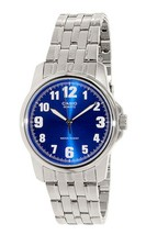 Casio Men's MTP1216A-2B Silver Stainless-Steel Quartz Watch with Blue Dial - $29.10