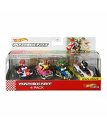 Hot Wheels Mario Kart Diecast 4 Car Pack BRAND NEW - $29.89