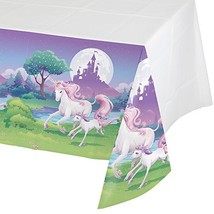 Creative Converting Unicorn Fantasy Plastic Table Cover (Each) - Party S... - $7.67