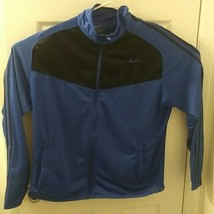 Nike Womens Blue  full Zip polyester Golf Jacket Size L - $21.34