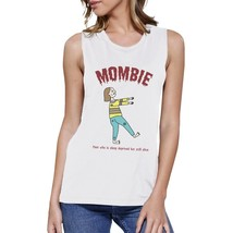 Mombie Sleep Deprived Still Alive Womens White Muscle Top - $14.99