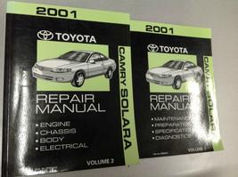 2001 TOYOTA CAMRY SOLARA Service Repair Shop Workshop Manual Set OEM Fac... - $88.06