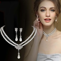 European And American Jewelry Bride Pearl Crystal With Short Collarbone ... - $16.01