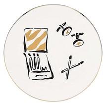 "Kate Spade Lenox DAISY PLACE Round Dish 6"" White Porcelain Gold Trim New - $19.90"