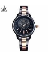 SK® Watches Women Rose Gold Watch Women Quartz Watches Ladies Top Brand ... - $26.64