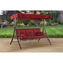 Elegant 3 Seat Canopy Porch Swing Bed Callimont Park Garden Patio Stylis... - $239.65