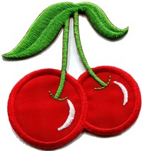 Cherry cherries slots retro gambling embroidered applique iron-on patch ... - $2.95