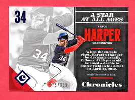 2017 Bryce Harper Panini Chronicles Blue 075/399 - Washington Nationals - $1.89