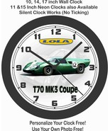 1967 LOLA T70 MK3 COUPE RACE CAR WALL CLOCK-PORSCHE, BMW-FREE USA SHIP - $28.70+