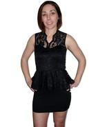 Sleeveless lace black mini dress  - $15.99
