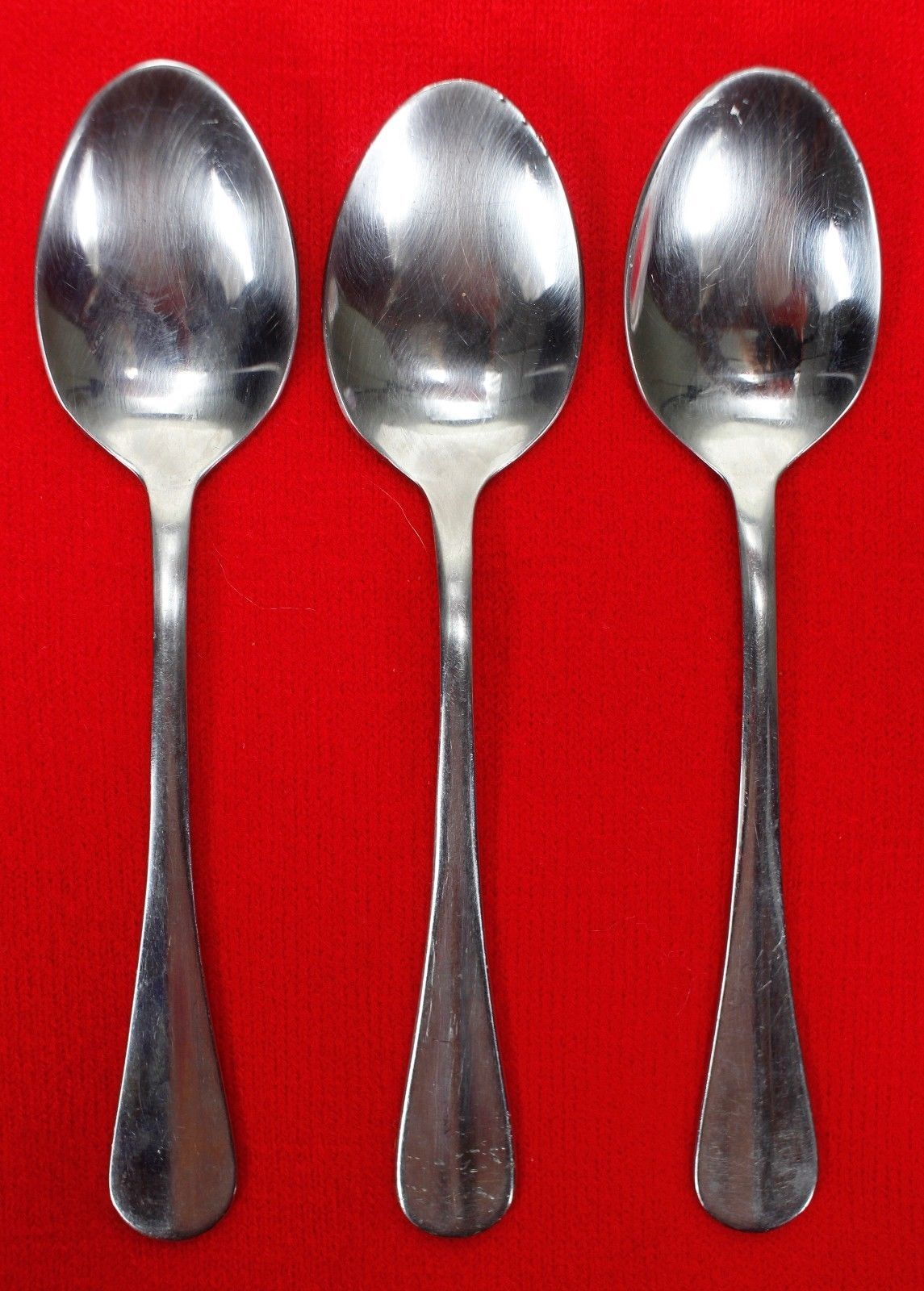 """3X Teaspoons Wallace Silver Hartford Stainless Glossy Flatware 6 1/4"""" Tea Spoon"""