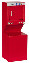 DOLLHOUSE MINIATURES RED STACKED WASHER/DRYER #T5963 - $29.69