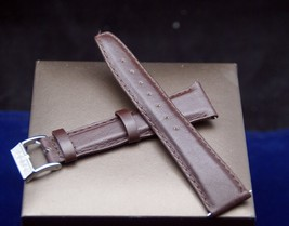 New Gucci 20MM Smooth Brown Leather Watch Band - Easy Connect -  (20.110) - $32.95