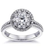 2.30 CT TW GIA Certified Split Shank Halo Diamond Engagement Ring in Pla... - $11,599.00