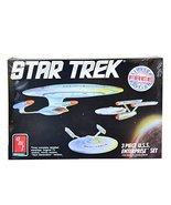 Star Trek 3 Piece U.S.S. Enterprise Set Model Kit Classic, Movie, and Ne... - $42.08