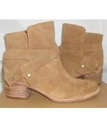 UGG ELORA Chestnut Suede Ankle Heel Boots SIZE US 8, EU 39 NIB #1020295 - $107.86
