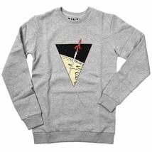 Tintin light grey Lunar rocket sweatshirt Official Tintin product Moulinsart