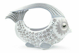 Lladro 01007290 Fish Centerpiece Large White & Silver Porcelain Figurine New - $1,207.80
