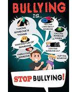 sy'decorative Stop Bullying Classroom Sign Mural Poster 36x54 inch - $48.87