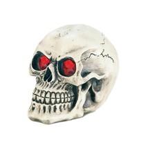 Skull Figurines, Led Light-up Eyes Kitchen Bathroom Statue Skull Room Decor - $21.69