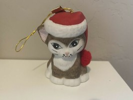 L'il Chimers Jasco Christmas Handpainted Bisque Porcelain Bell Santa Hat... - $16.00