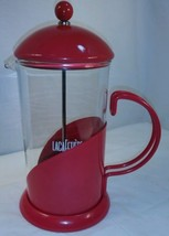 LA CAFETIERE 8 Cup LaCafetiere French Coffee Press Tea Maker Red EUC (BR) - £14.89 GBP