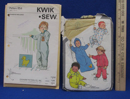 2 Vintage Toddler Simplicity & Kwik Sew Sewing Patterns Sleeper Bunting ... - $10.88