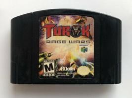 ☆ Turok Rage Wars (Nintendo 64 1999) AUTHENTIC N64 Game Cart Tested Works ☆ - $11.00
