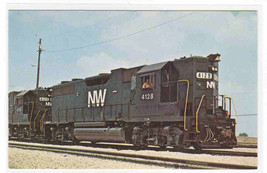 Norfolk & Western Railroad Train 4128  Bellevue Ohio postcard - $5.45