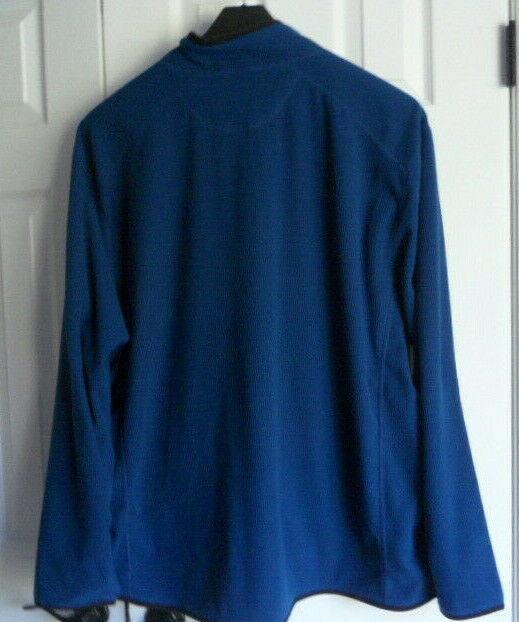 NWT MEN'S Eddie Bauer 4XL Vertical Full Zip Fleece Jacket Blue LIGHTWEIGHT