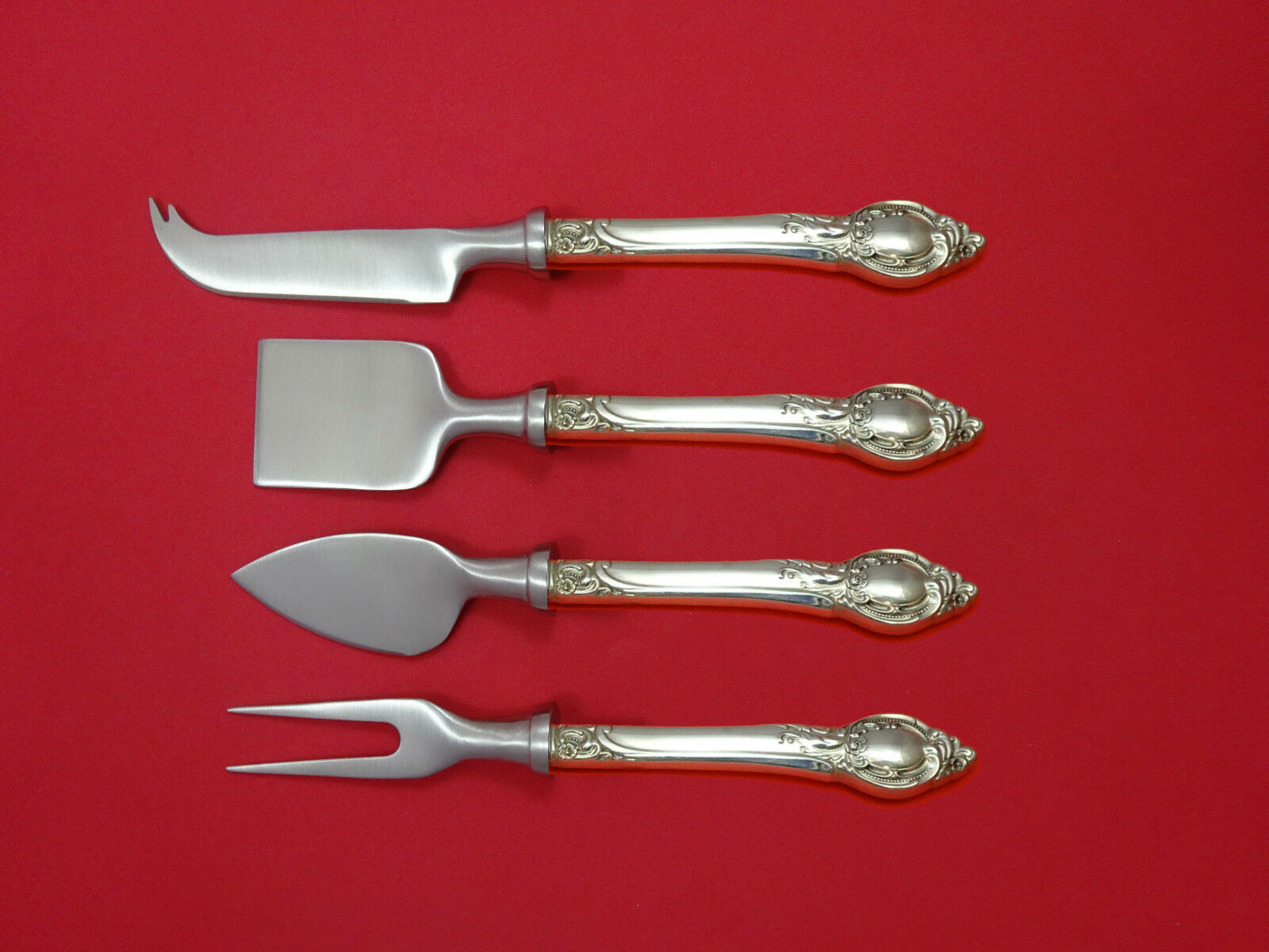 Primary image for Cameo by Reed & Barton Sterling Silver Cheese Serving Set 4 Piece HHWS Custom