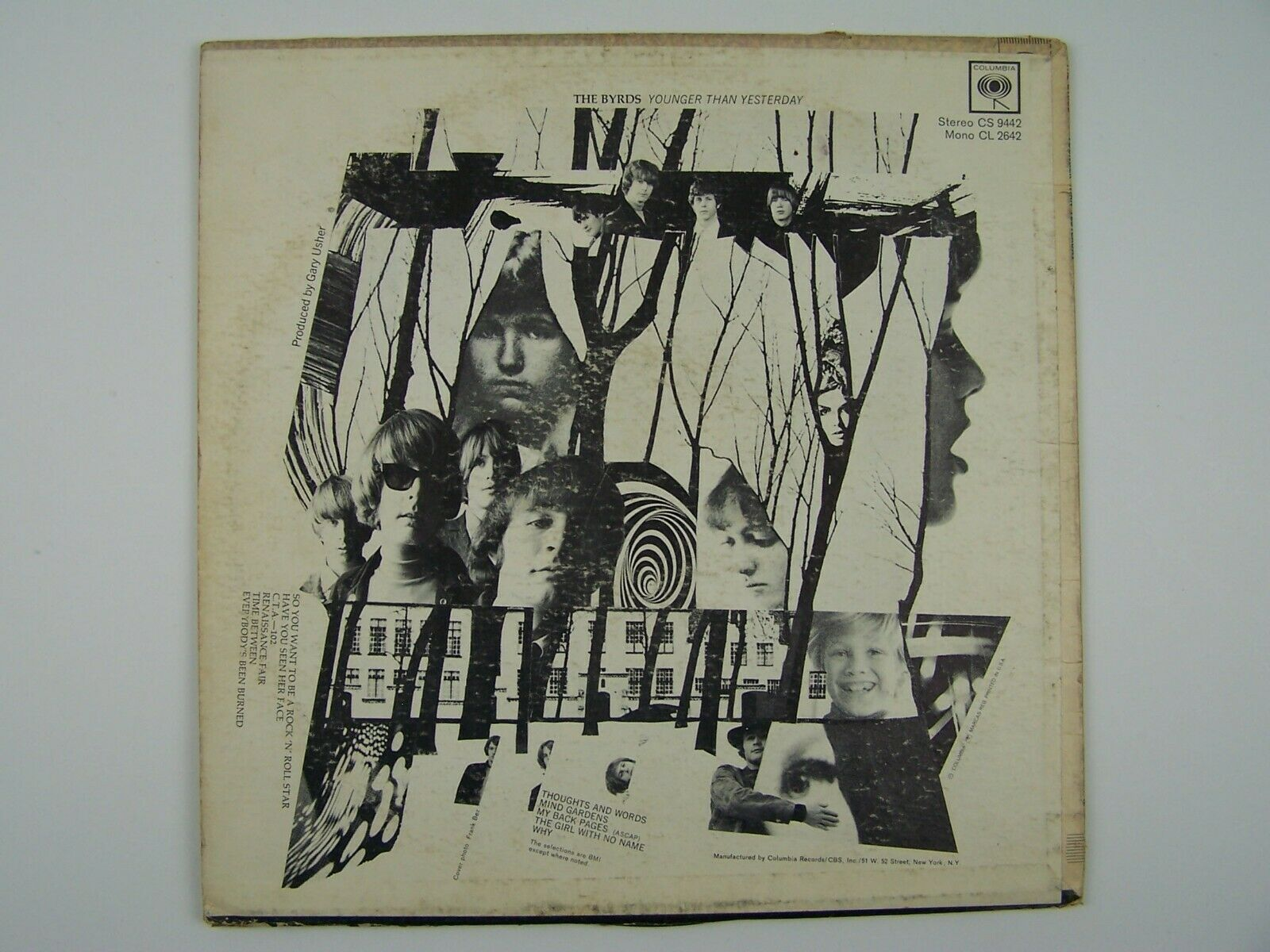 The Byrds - Younger Than Yesterday Vinyl LP Record Album CL 2642 MONO