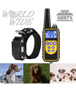 800m Waterproof Rechargeable Remote Control Dog Electric Training Collar - $32.99