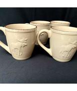 Pro Bass Shop Moose Coffee Tea Mugs Wilderness Set Of 4 - $45.54